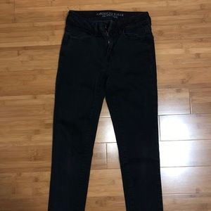 American Eagle High Waisted Black Jeans